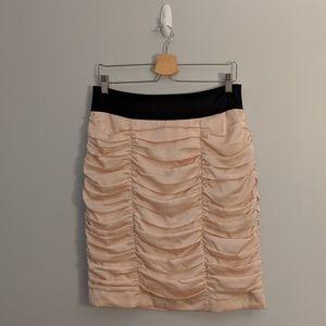 3/$25 H&M Blush Pink Black Ruched Skirt